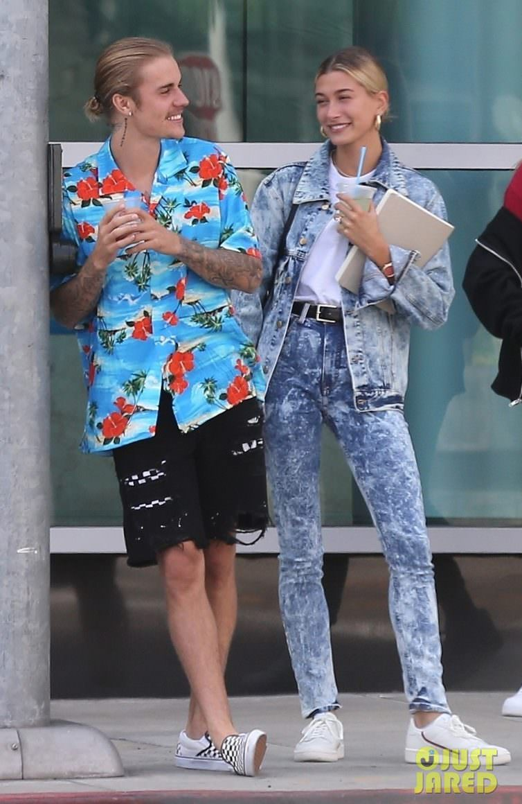 Justin Bieber in the Vans Slip On & Hailey Baldwin in the adidas Continental 80s