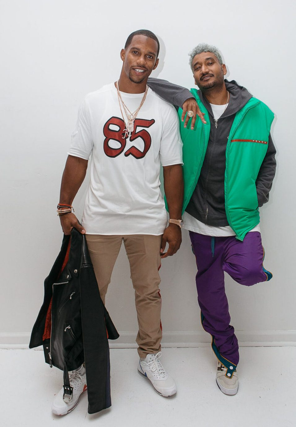 Victor Cruz in the Skepta x Nike Air Max 97/BW & Don C in the Just Don x Converse ERX