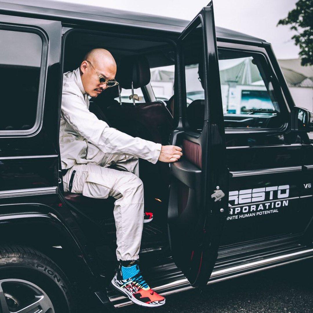 Errolson Hugh in the Acronym x Nike Air Presto Mid