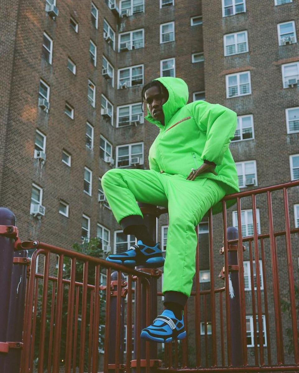 Asap Rocky in the Prada Sneakers