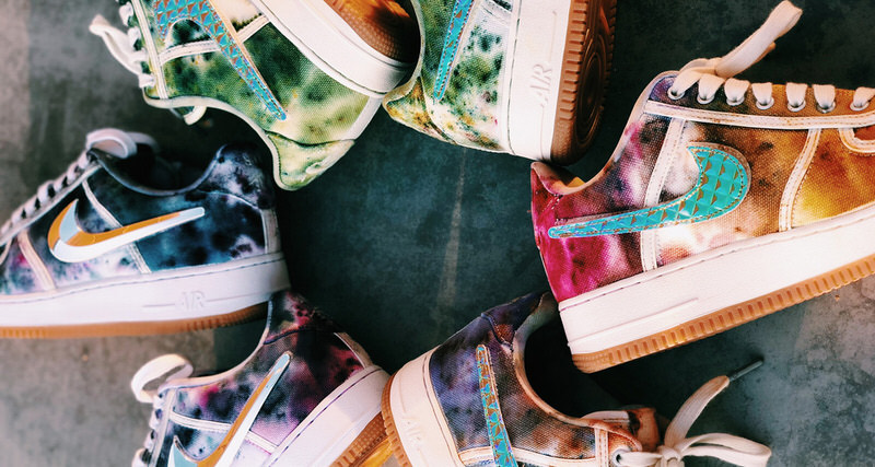 finest selection 3891c 60435 Joey Hamilton Gives Tie Dye Update To Travis Scott Nike Air Force 1