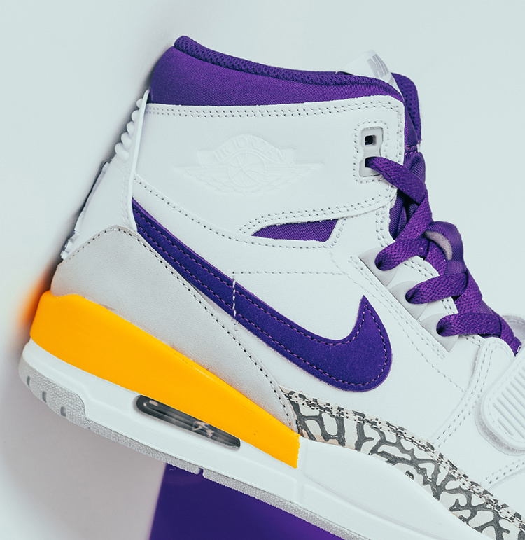 "048d12ade9b5 Jordan Legacy 312 ""Lakers"". Colorway  White Field Purple-Amarillo Style     AV3922-157. Release Date  November 1"