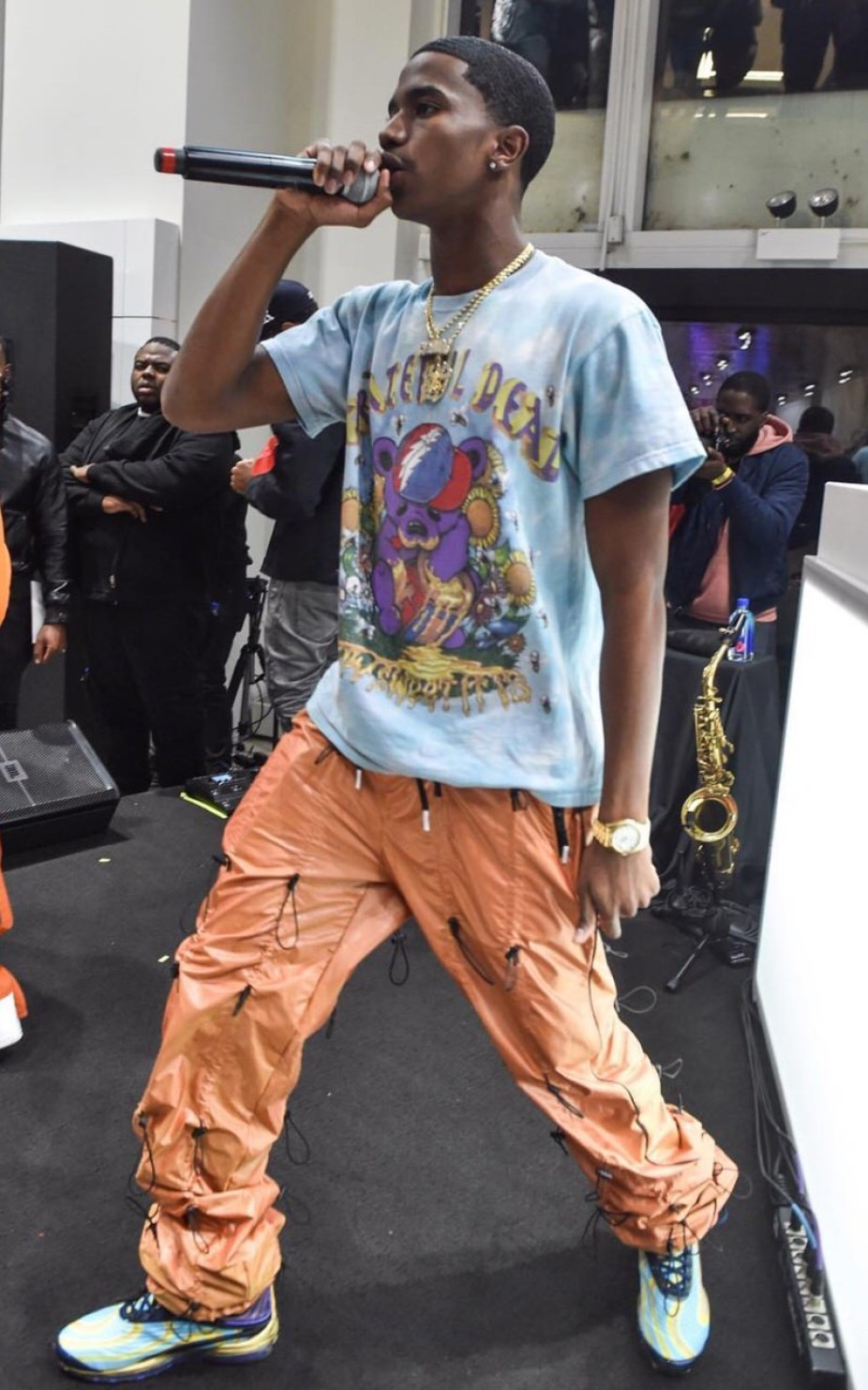 Christian Combs in the Nike Air Max Deluxe