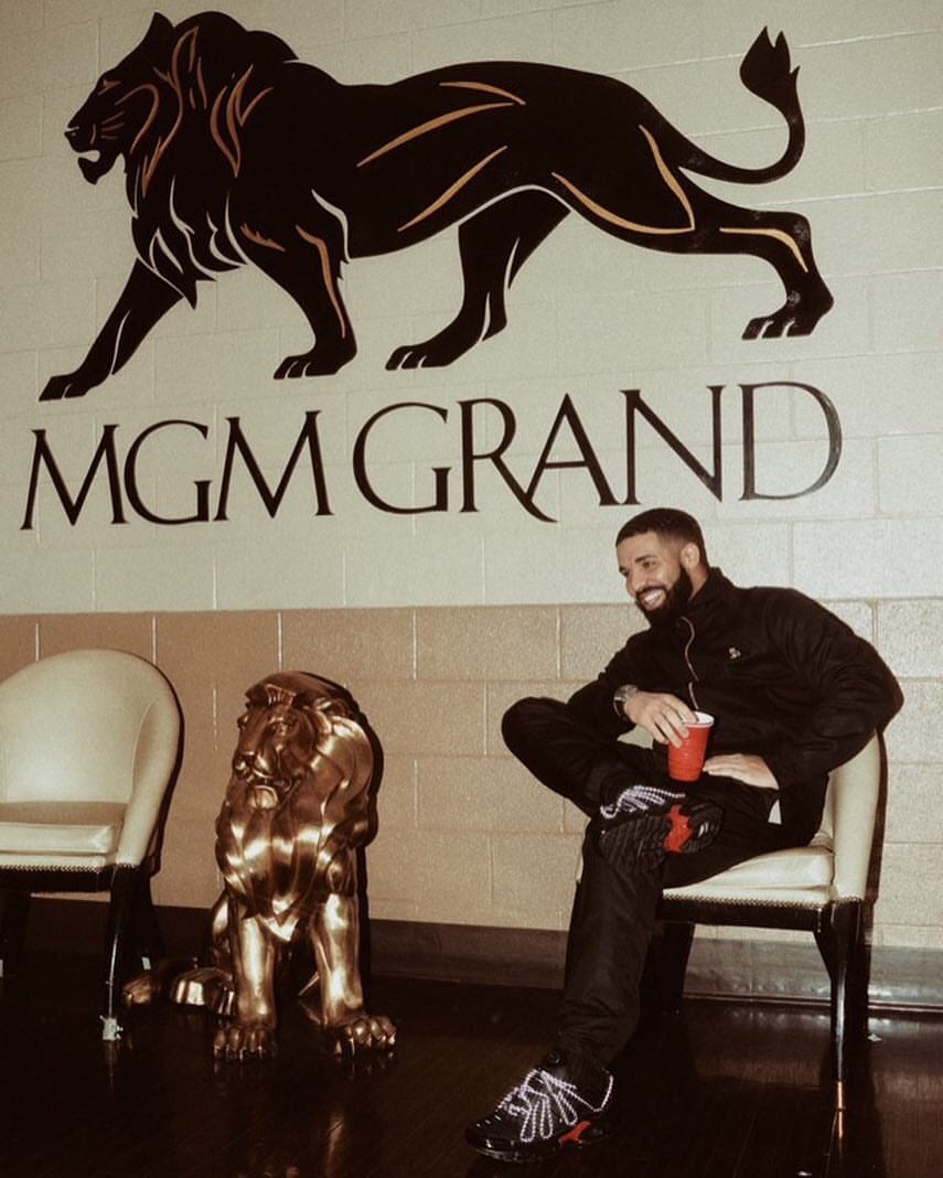 "Drake in the Nike Air Max Plus ""Scorpion Tour"""