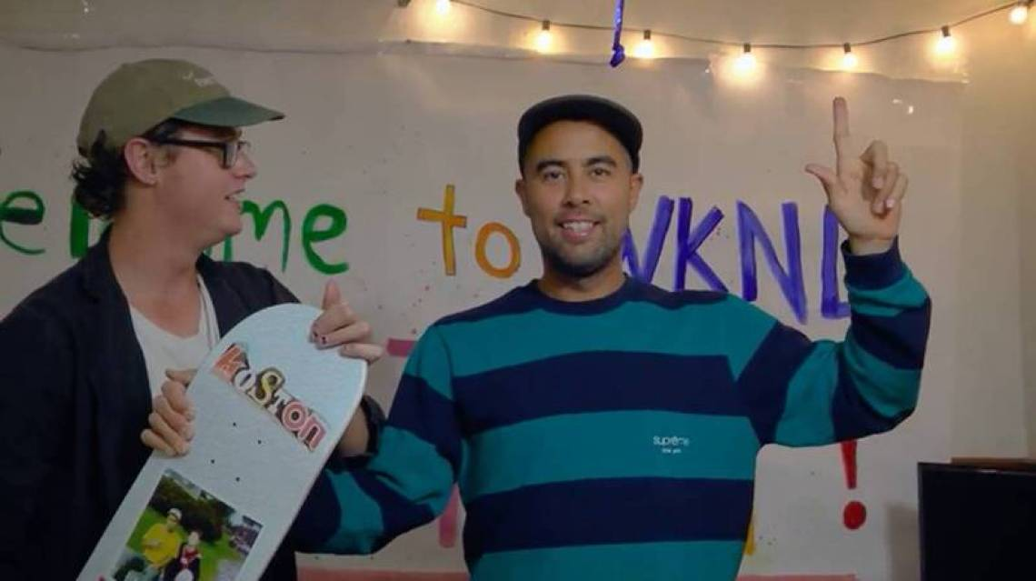Even though Supreme has plenty of wild offerings, Eric Koston's usually sticking to the more neutral offerings. And he's an OG Supreme collector.