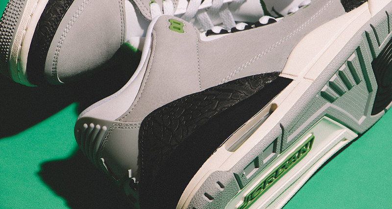 "8eca159a3529f1 Air Jordan 3 ""Chlorophyll"" Inspired By Tinker Hatfield s Air Trainer 1  Arrives This Weekend"