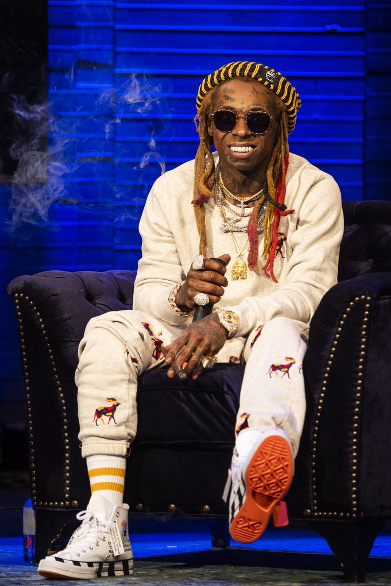 Lil Wayne in the Off White x Converse Chuck Taylor