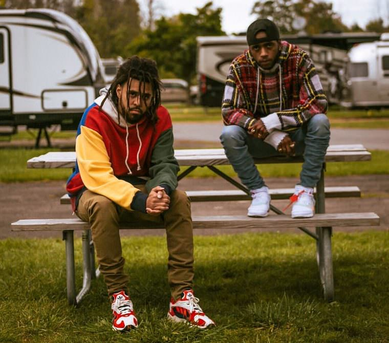 2ef496147f63 ... J Cole in the adidas Yung 1   6lack in the Off White x Nike Air