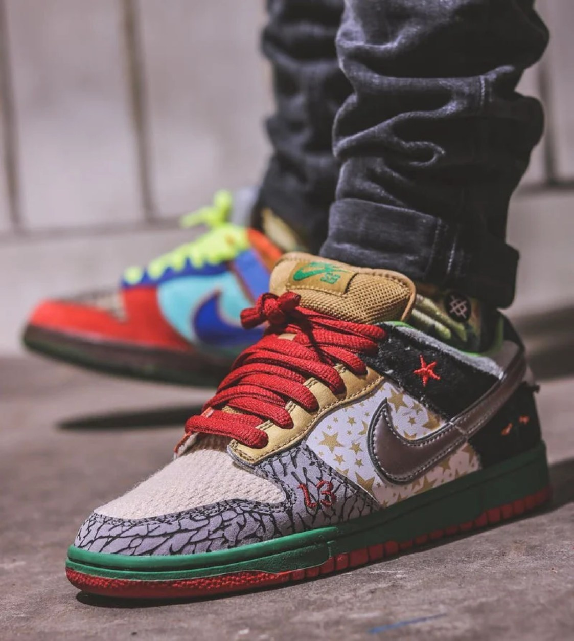 """Enter the infamous Nike """"What The"""" Dunk. photo by  bamasneaker d98bf55ceeeb"""