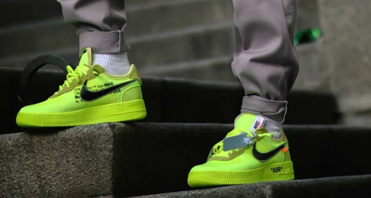 "Off White x Nike Air Force 1 Low ""Volt"""