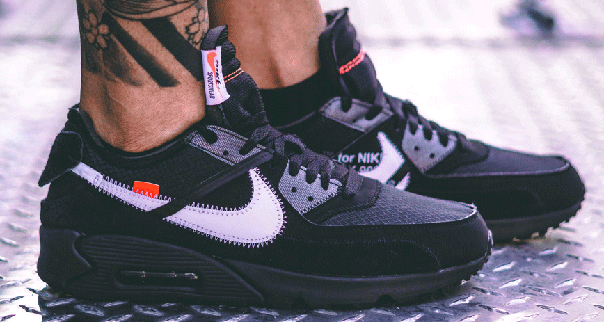 """buy online 8ba8b 13476 A Closer Look at the Off White x Nike Air Max 90 """"Black"""""""