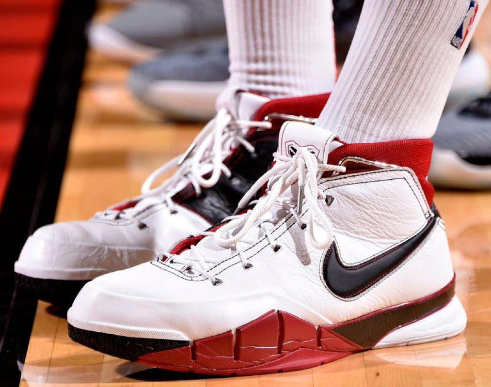 """a88d88a00dad ... PJ Tucker in the Nike Kobe 1 """"All-Star"""" (photo via BR Kicks)"""