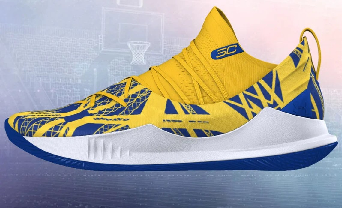 """87fb17e2c520 The Under Armour Curry 5 """"Ring Night"""" is available for purchase now at UA  ICON."""