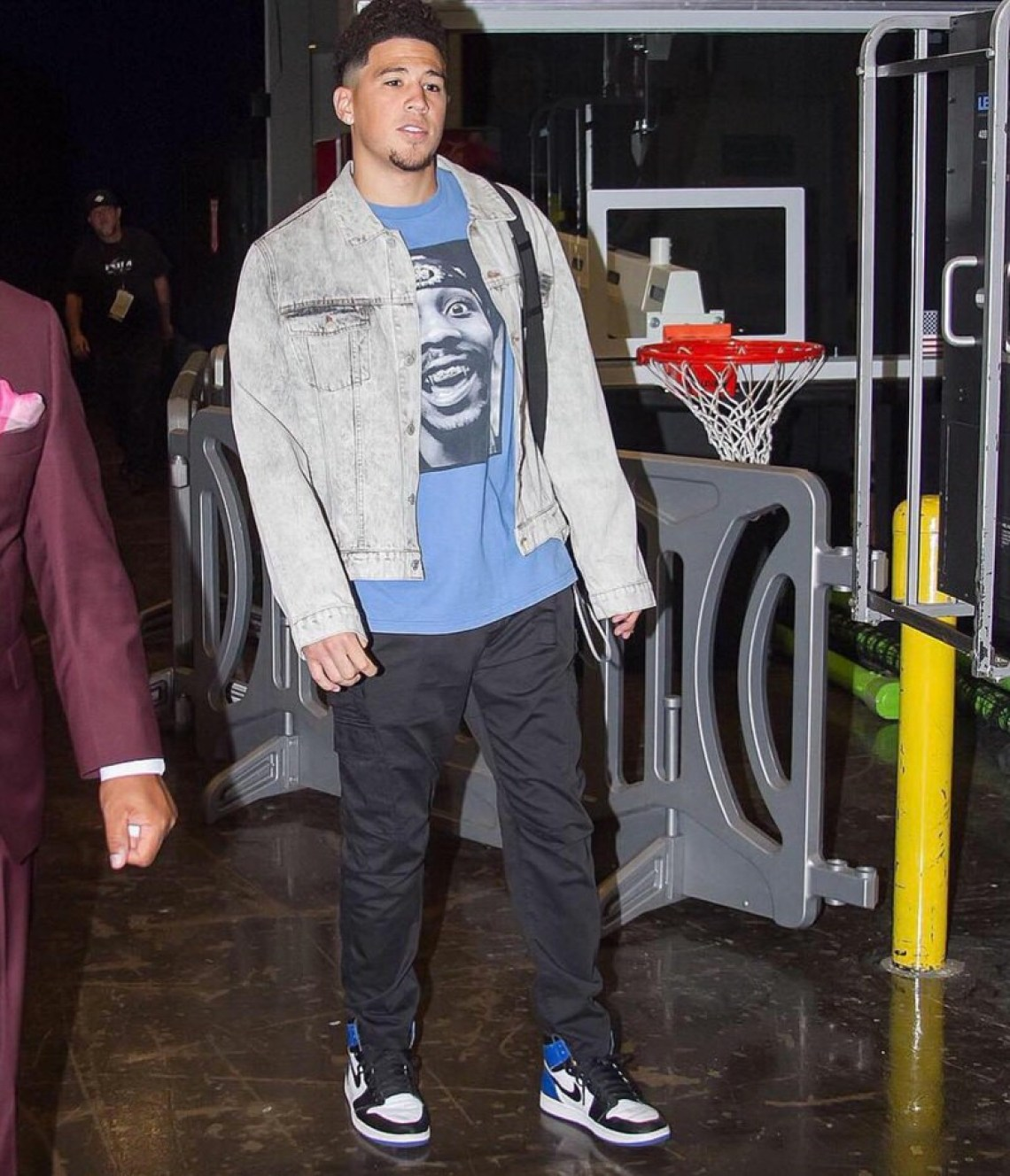 "Devin Booker in the Air Jordan 1 Retro High OG ""Fragment"""