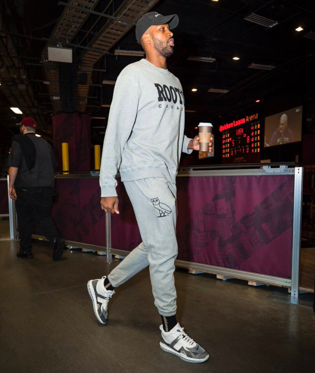 Tristan Thompson in the John Elliot x Nike Lebron Icon