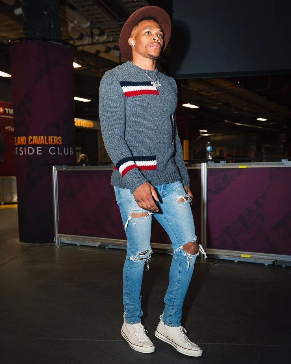 Russell Westbrook in the Converse Chuck Taylor