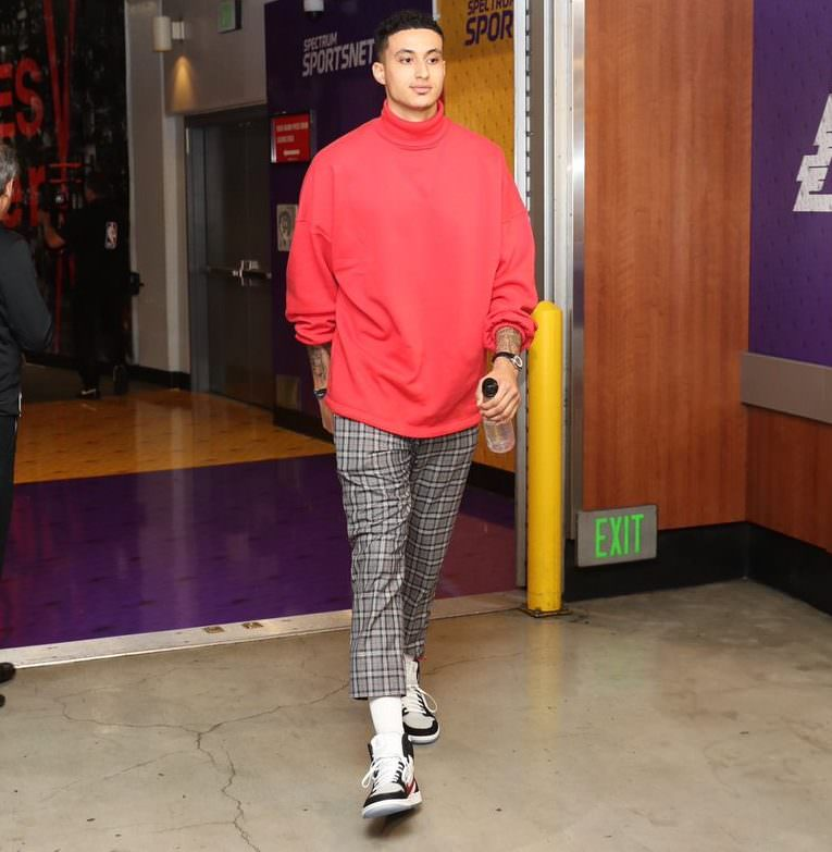 "Kyle Kuzma in the Air Jordan 1 ""Mars Yard Custom"" By Shoe Surgeon"