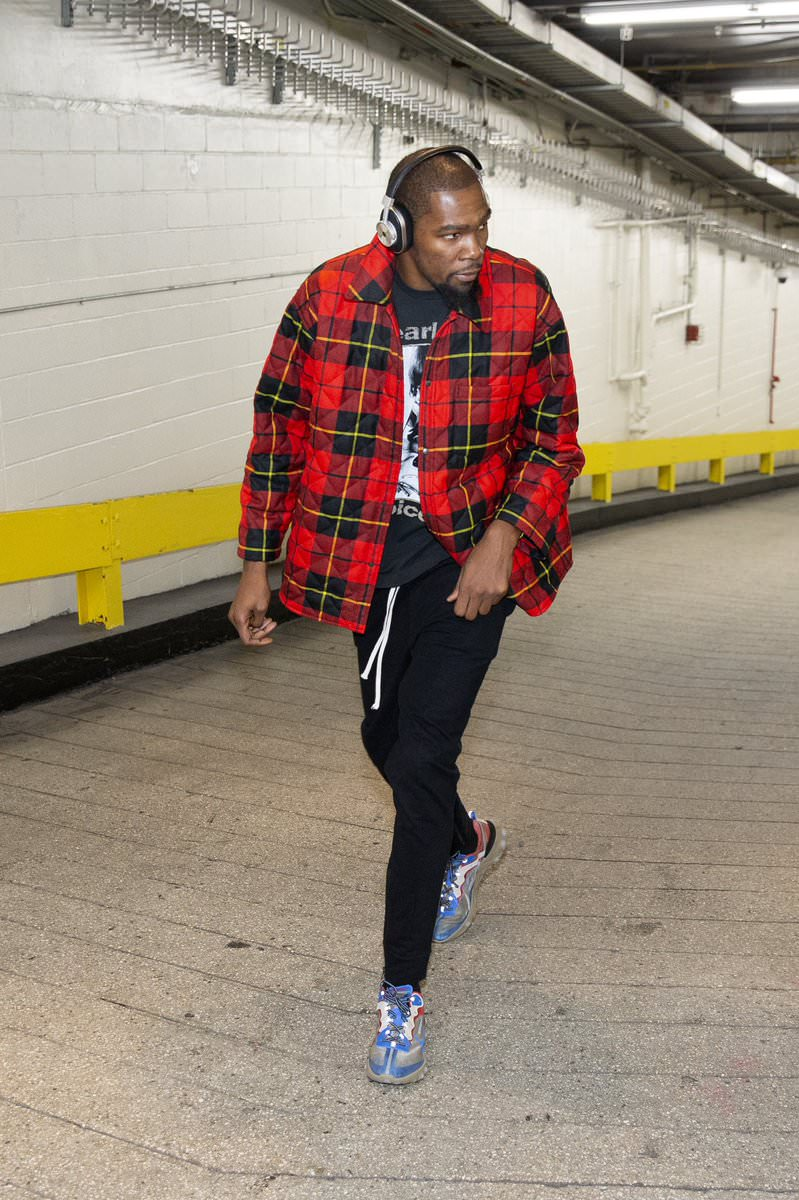Kevin Durant in the Undercover x Nike React Element 87