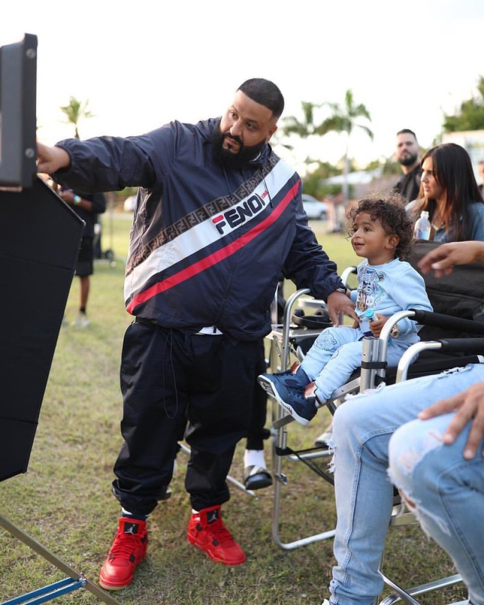 "DJ Khaled in the Air Jordan 4 Retro ""Red Gum"""