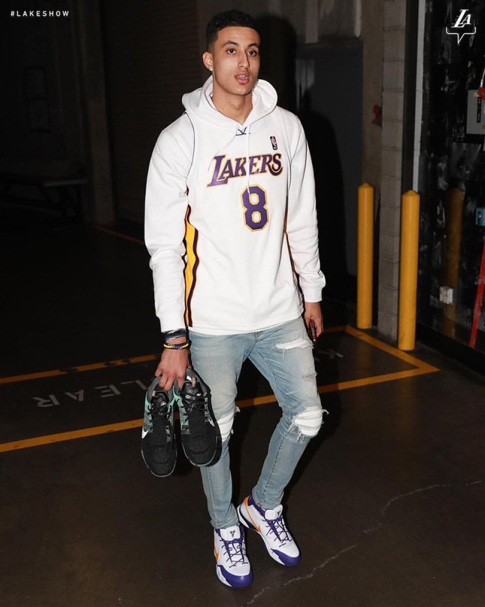 Kyle Kuzma in the Nike Zoom Kobe 1 Protro