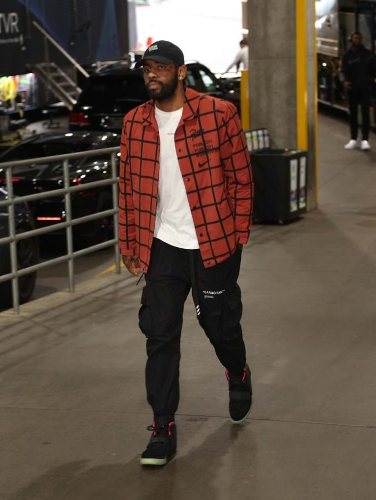 "Kyrie Irving in the Nike Air Yeezy 2 ""Solar Red"""