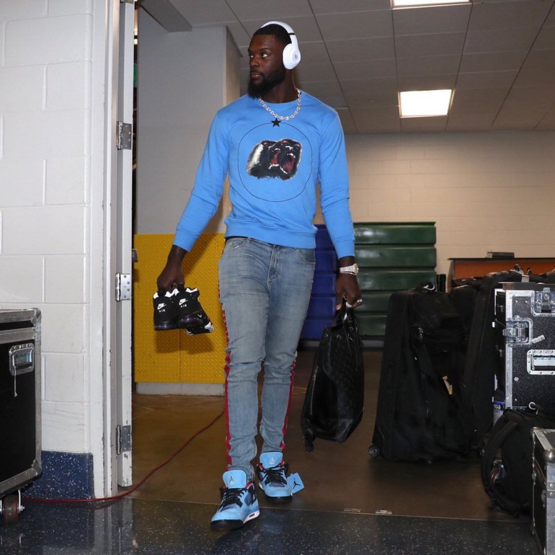 Lance Stephenson in the Travis Scott x Air Jordan 4