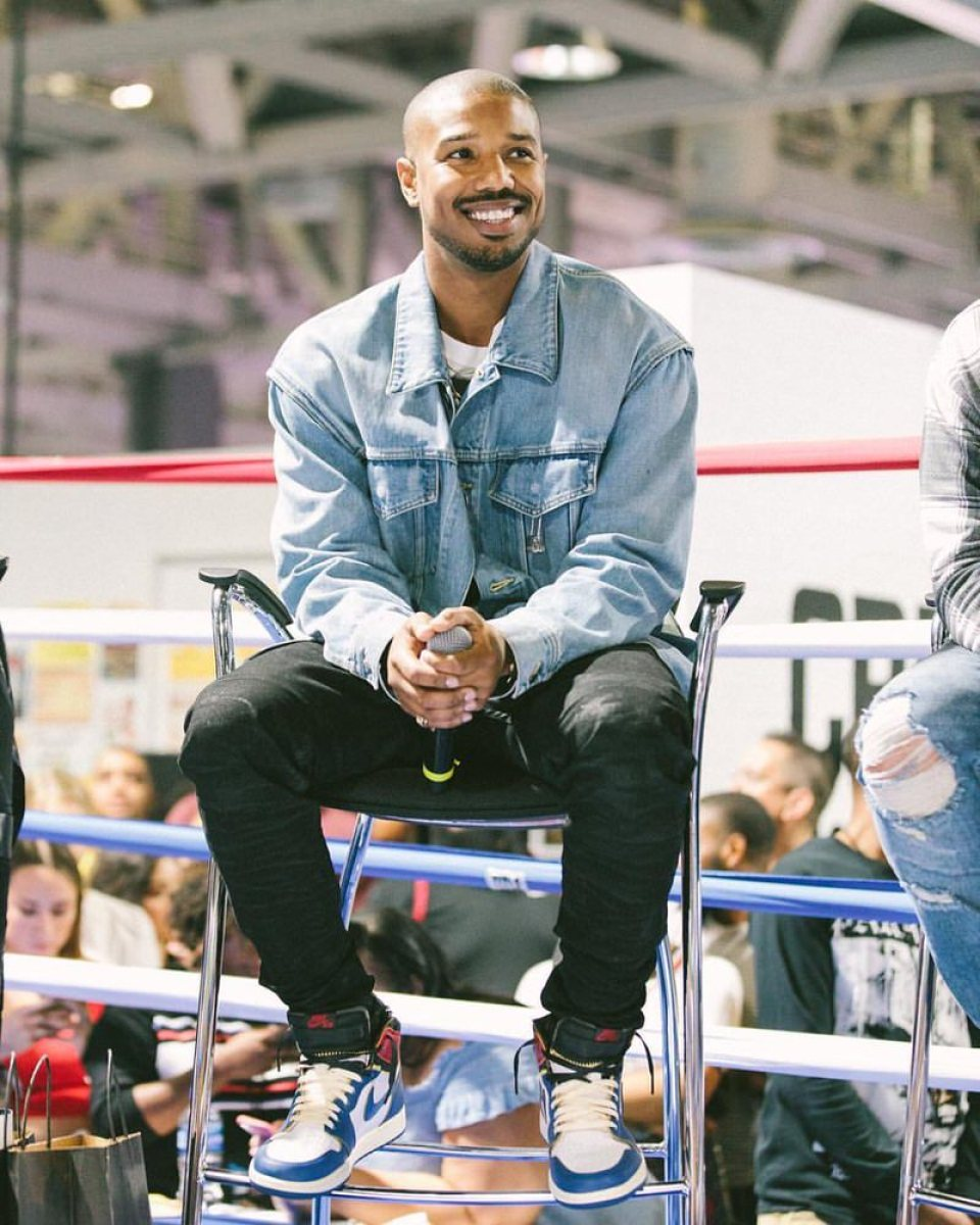 Michael B Jordan in the Union Los Angeles x Air Jordan 1