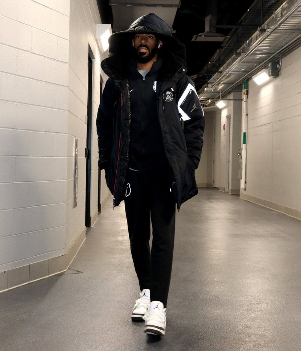 Mike Conley in the Air Jordan 3 Retro 'Mocha""