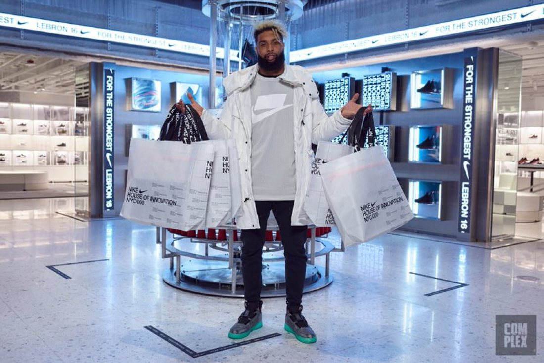 "Odell Beckham Jr in the Nike Air Force 1 Low Utility ""OBJ"""