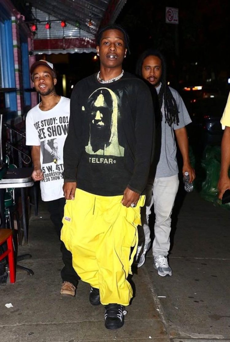 Asap Rocky in the Asap Rocky x Under Armour SRLo