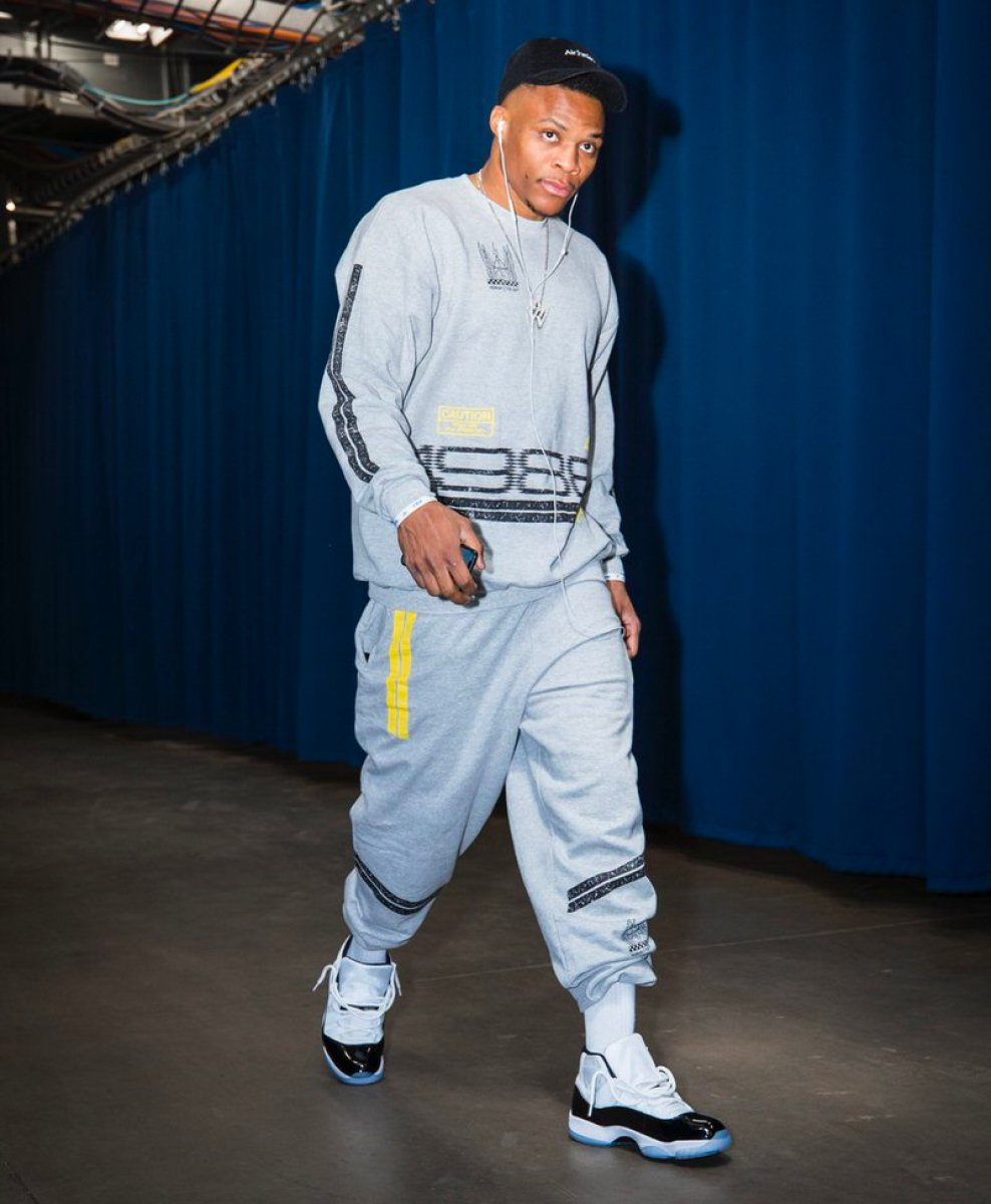 "Russell Westbrook in the Air Jordan 11 Retro ""Concord"""