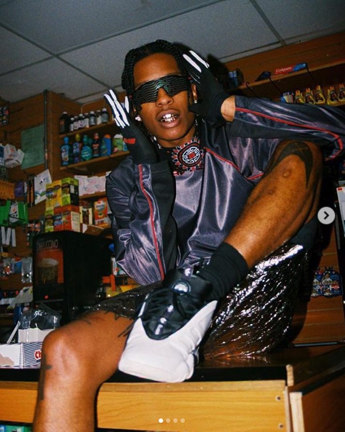 A$ap Rocky in the adidas Alexander Wang x Adidas AW Turnout Bball