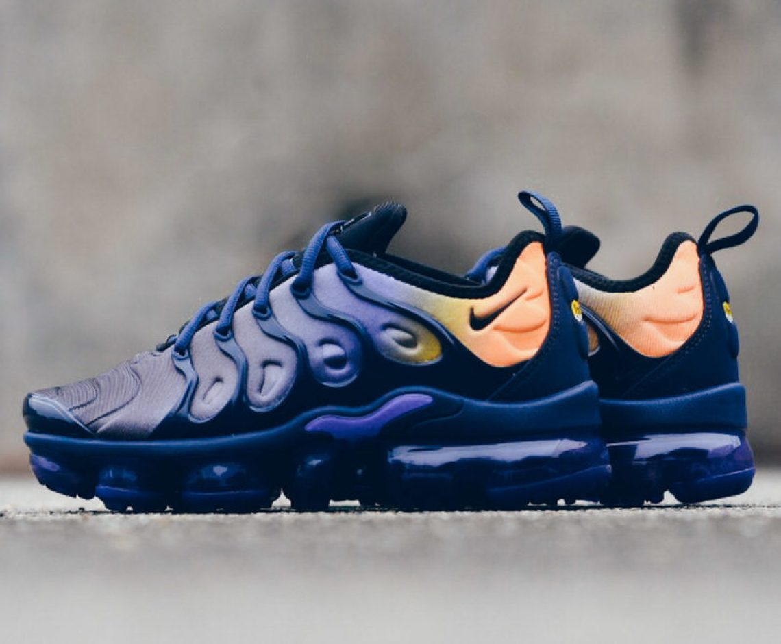 "new concept 47c9b b3940 Nike Air VaporMax Plus ""Persian Violet"" Blends BW Tones with Tuned Air Fade"