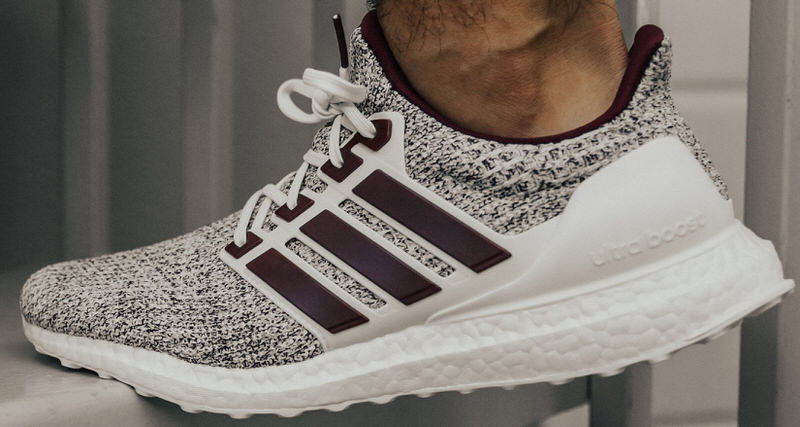 24ae35db247 Aggie Inspiration Gave the adidas Ultra Boost 4.0 Even More College Cool