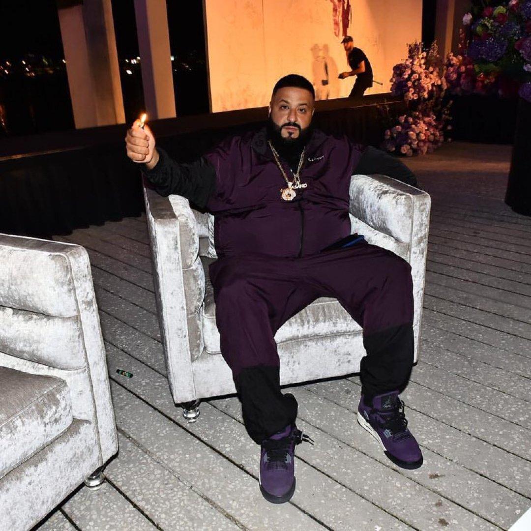 DJ Khaled in the Travis Scott x Air Jordan 4
