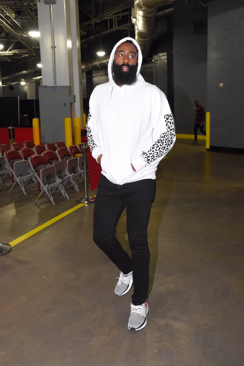 James Harden in the adidas Ultra Boost 2019