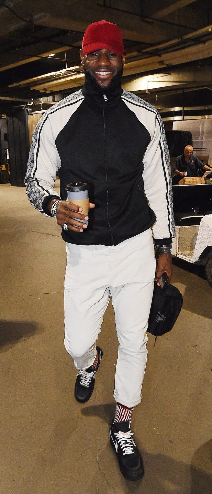 "0ccef24d9c4 ... LeBron James in the Off-White x Nike Air Force 1 Low ""Black"""