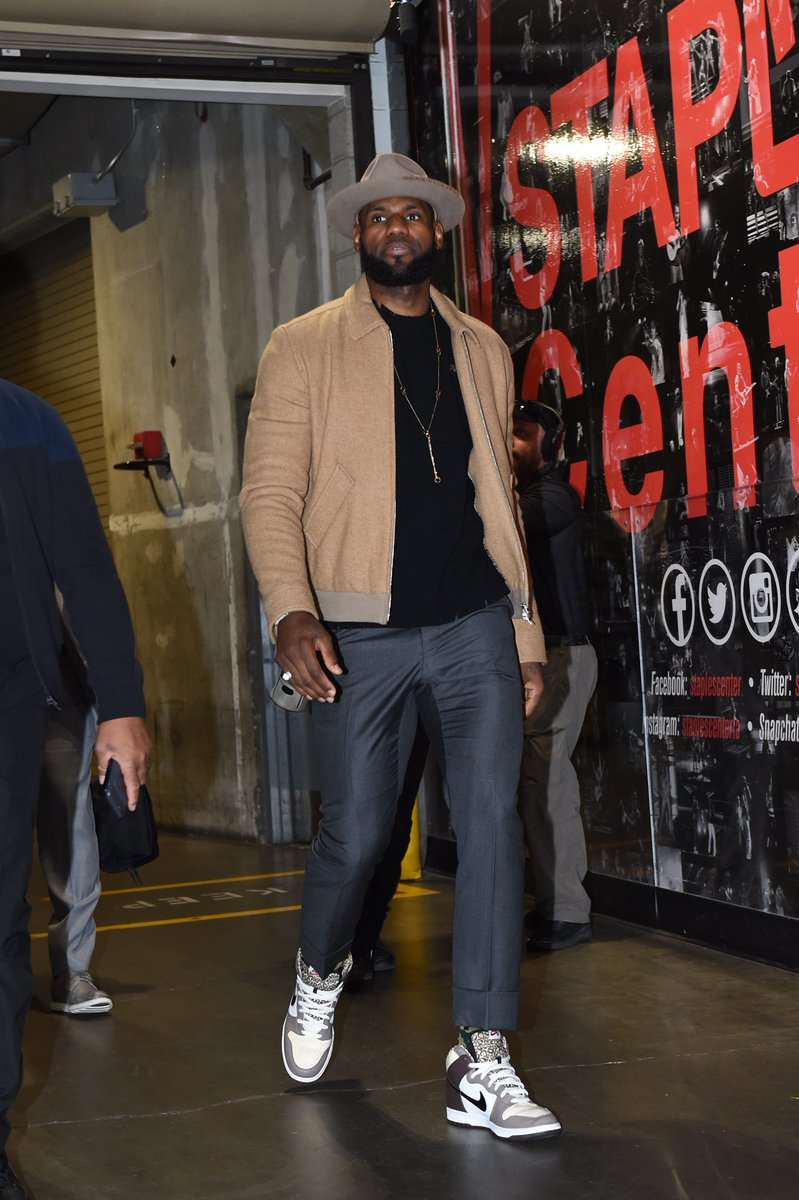 "Lebron James in the Nike Dunk High SB Pro ""Ferris Bueller"""