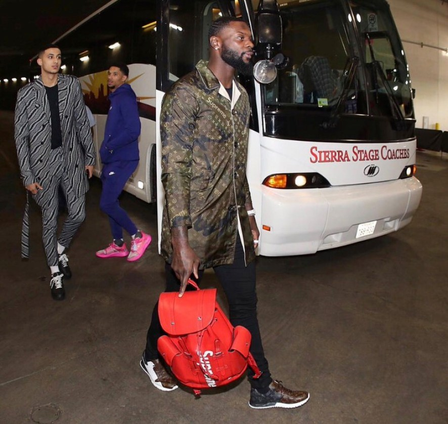 Lance Stephenson in the Louis Vuitton sneakers