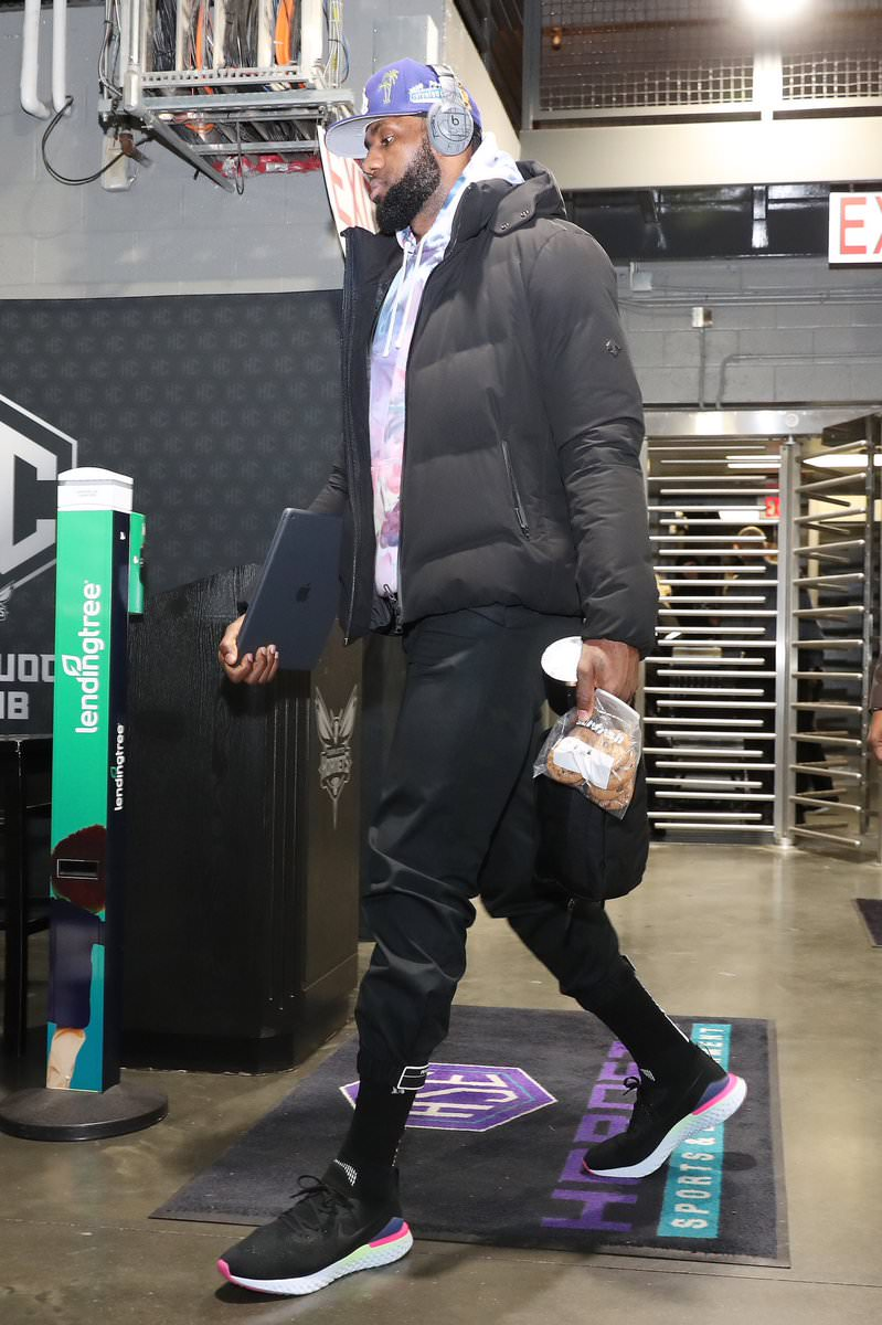 Lebron James in the Nike Epic React Flyknit 2