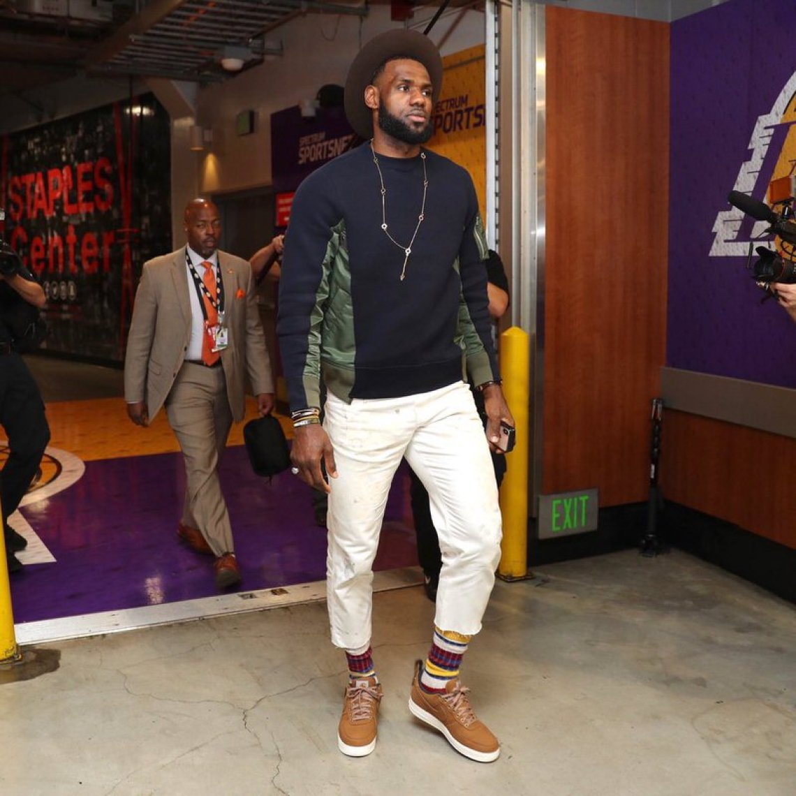 Lebron James in the Carhartt x Nike Air Force 1 Low