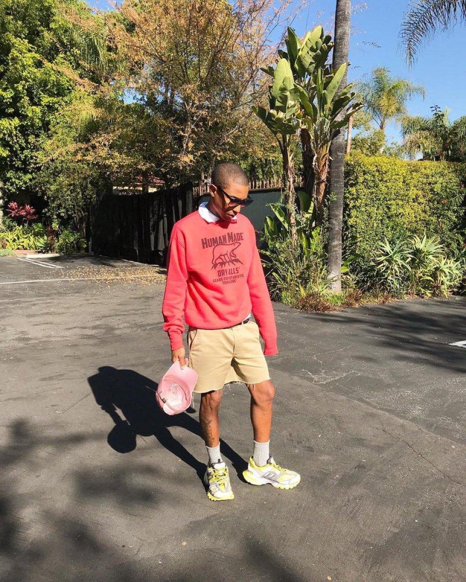 Pharrell Williams in the Balenciaga Track Sneakers