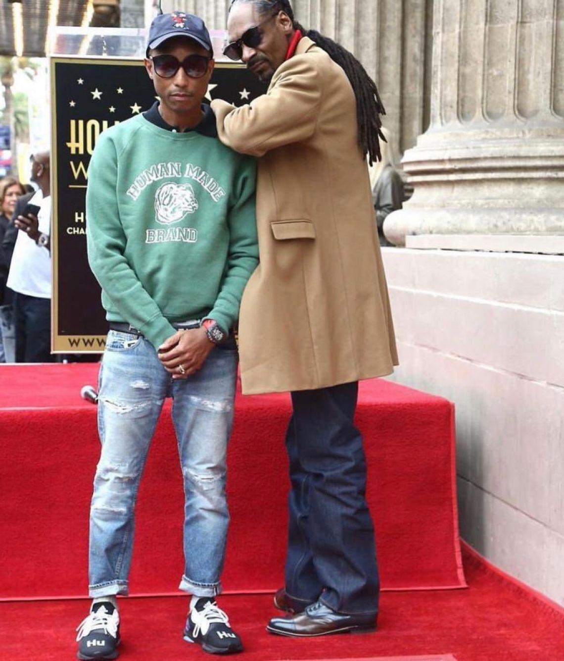 Pharrell Williams in the Pharrell x adidas Solar Hu Glide ST