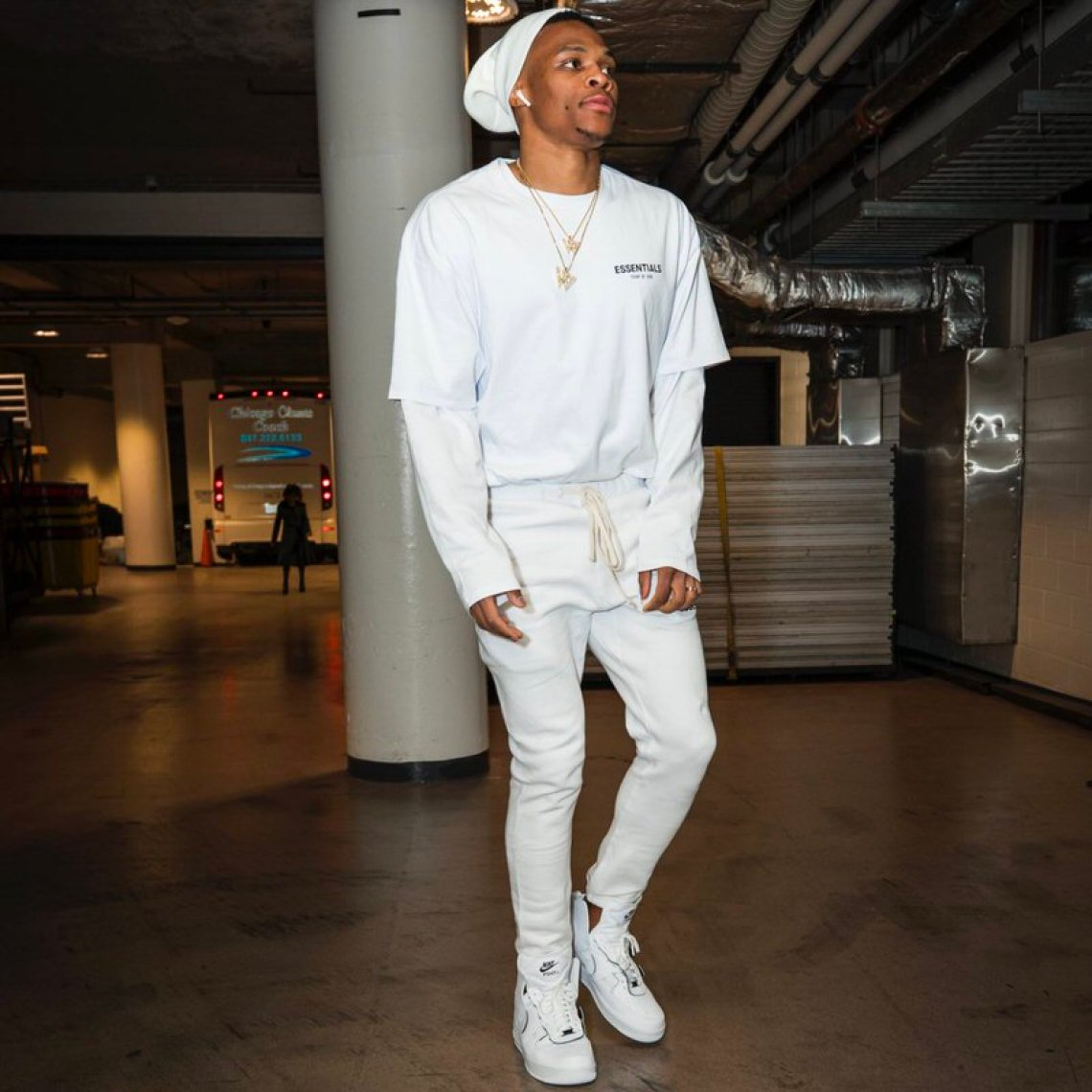 Russell Westbrook in the PSNY x Nike Air Force 1 High