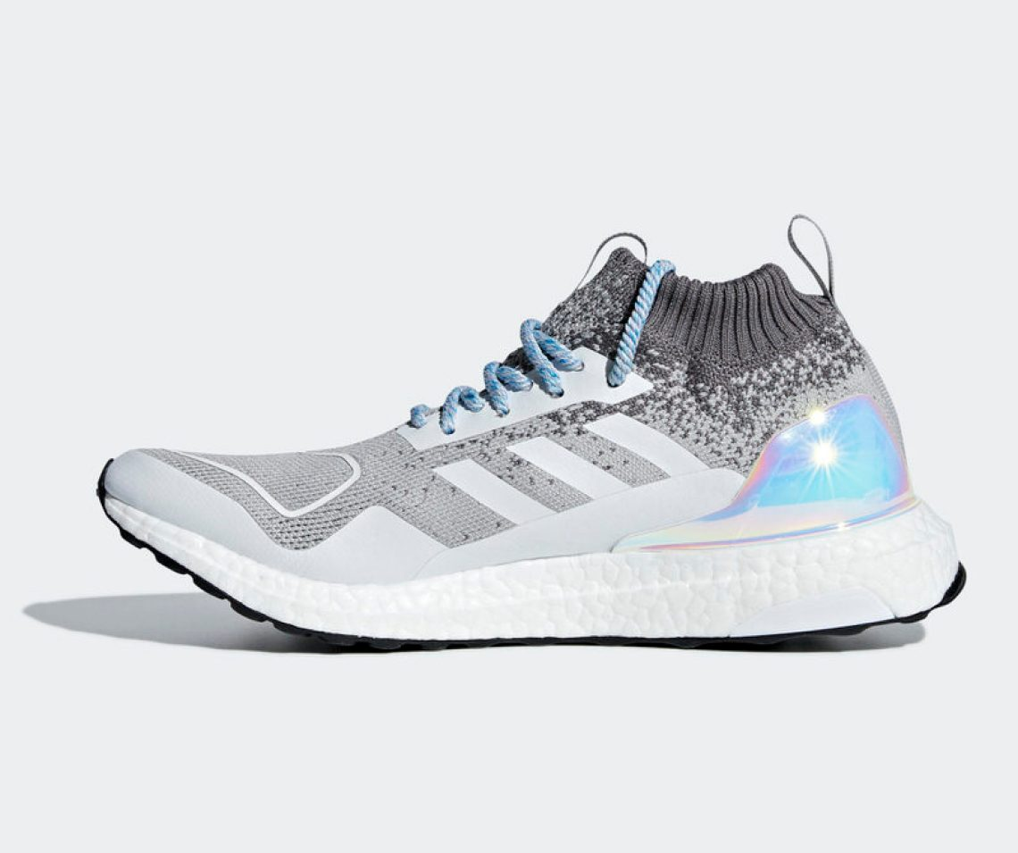 """f149368ab The adidas Ultra Boost Mid """"Light Granite"""" is available now at adidas. Keep  it locked to Nice Kicks for more Boost Week coverage."""