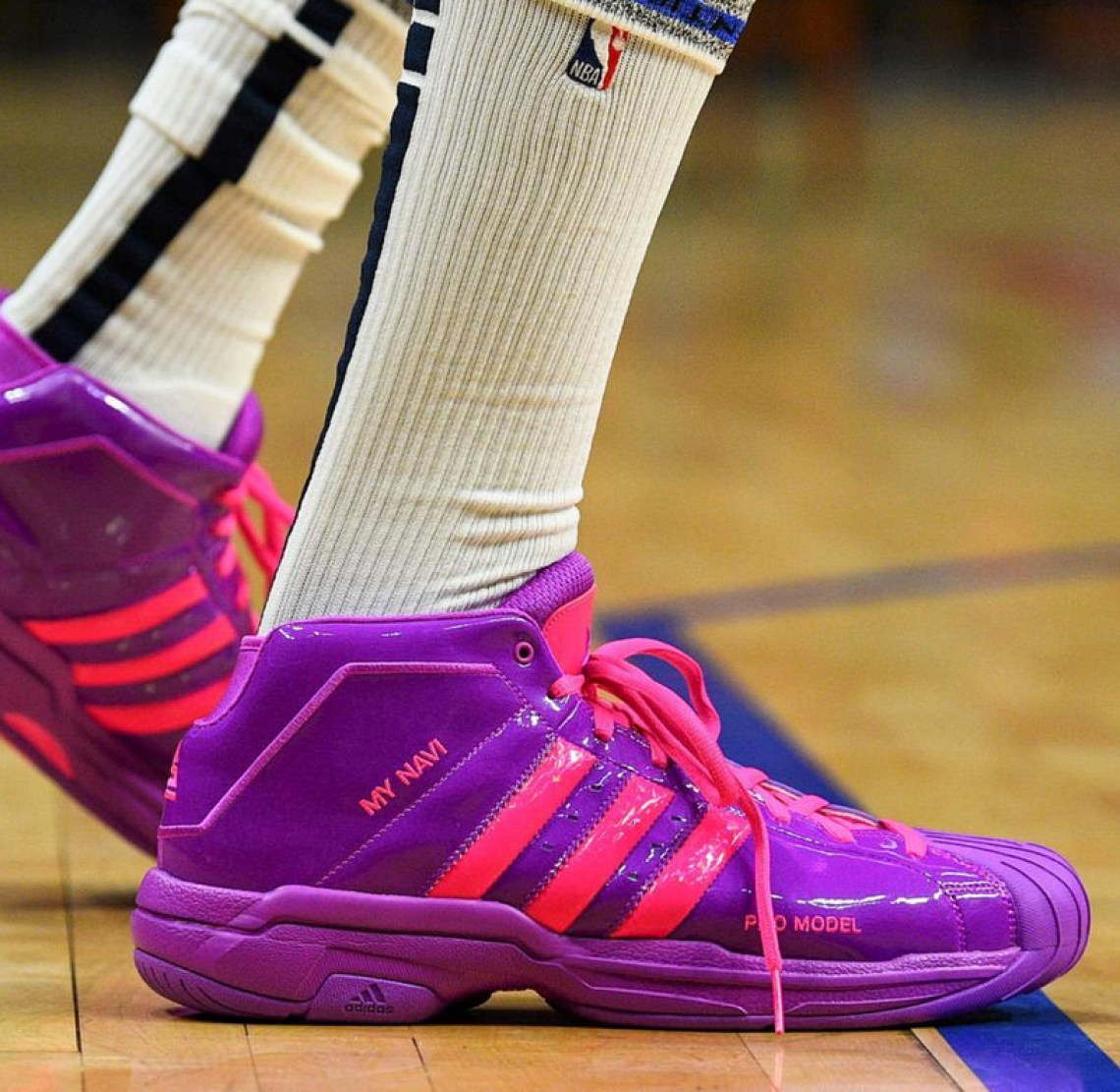 1d30a1369f346 ... Nick Young in his adidas Pro Model PE (photo via SC by Brian Rothmuller)
