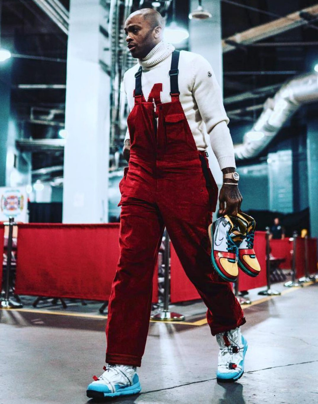 PJ Tucker in the Tom Sachs x Nike Mars Yard Overshoe