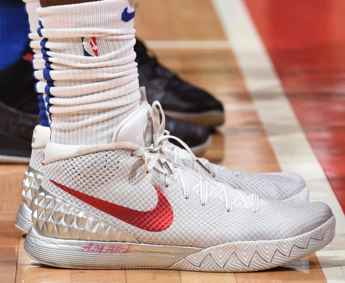 """059cadf9e6c Montrezl Harrell in the Nike Kyrie 1 """"Opening Night"""" (Adam Pantozzi NBAE  via Getty Images)"""