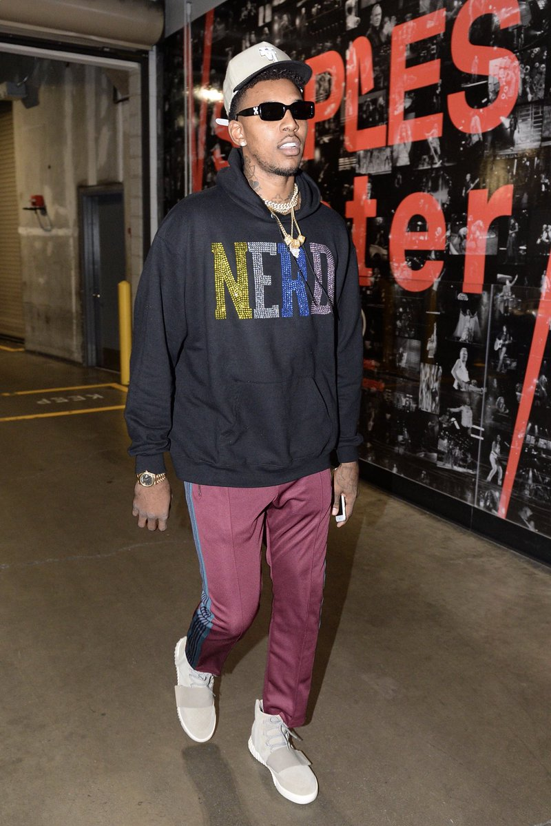 Nick Young in the adidas Yeezy Boost 750 OG