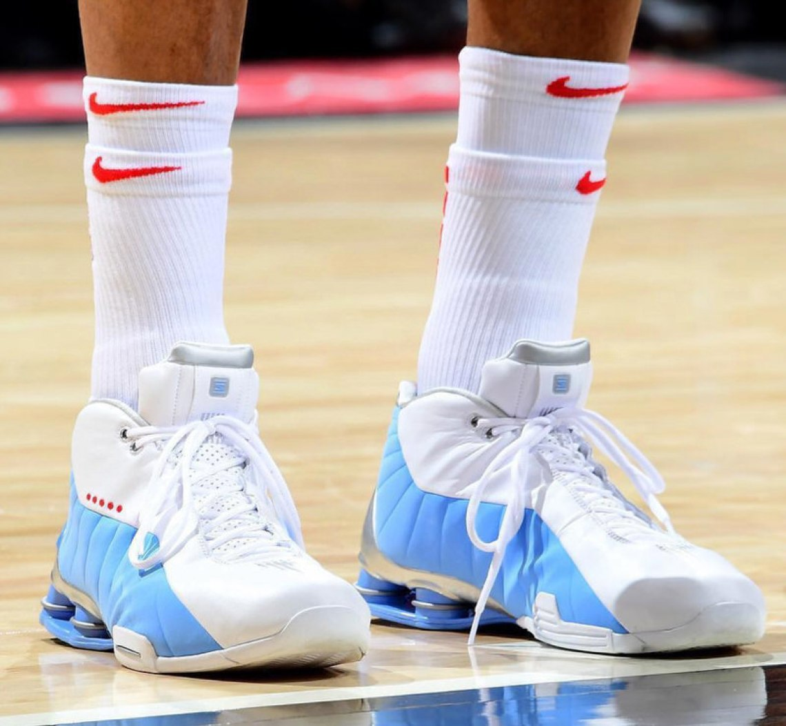 02a3d2b4abe Vince Carter in a Nike Shox BB4 PE (photo by Scott Cunningham/NBAE via  Getty Images)
